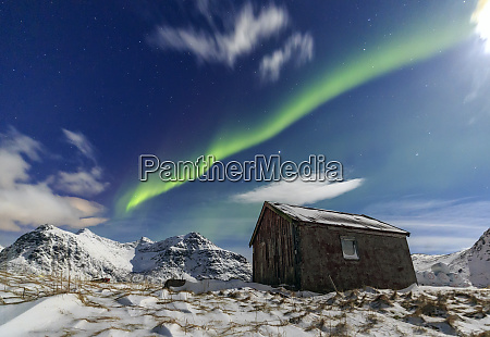 northern lights aurora borealis over a