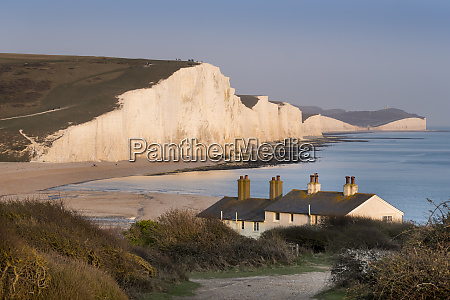 seven sisters chalk cliffs south downs