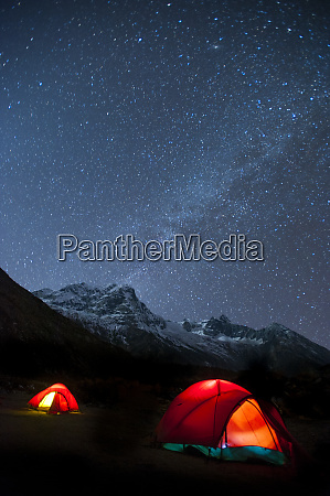 glowing tents at samogaon on the