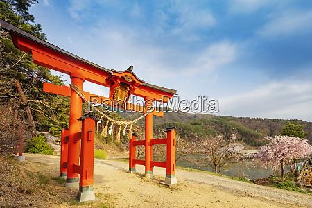 torii gate of a shinto shrine