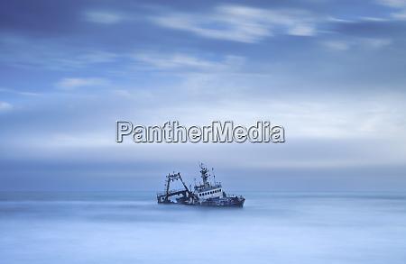 shipwreck off the atlantic coast shot