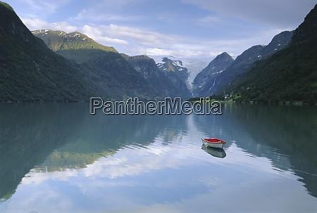 tranquil scene near olden oldevatnet lake