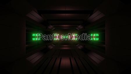 futuristic glowing scifi space tunnel corridor