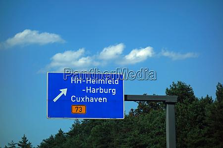 federal motorway exit hh heimfeld harburg