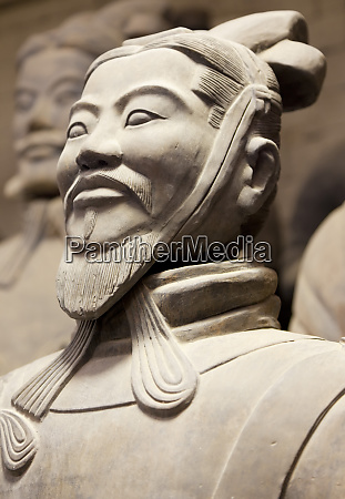 close up of terracotta army warrior
