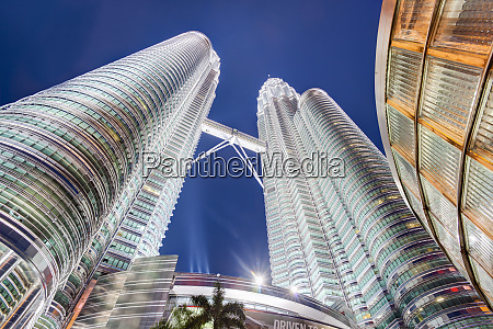 low angle view of the petronas