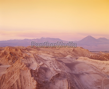 eroded mountains of the valley of