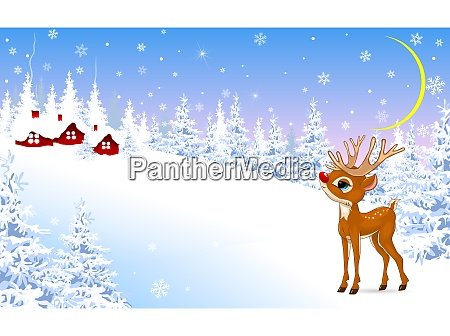 little, fawn, on, a, winter, background - 27270961