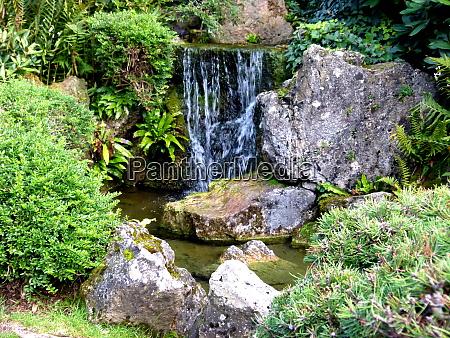 beautifully landscaped garden of japanese style