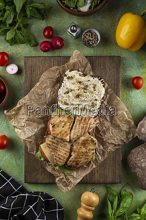 open chicken sandwich