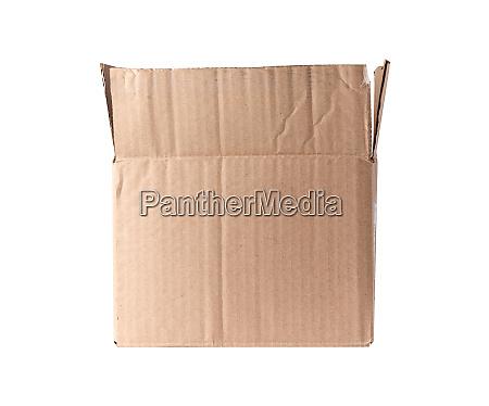 brown rectangular box of cardboard on
