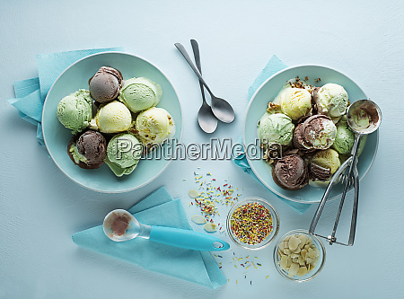 ice cream mixed