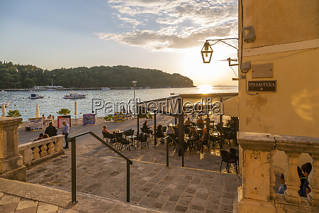 view of restaurant at sunset in