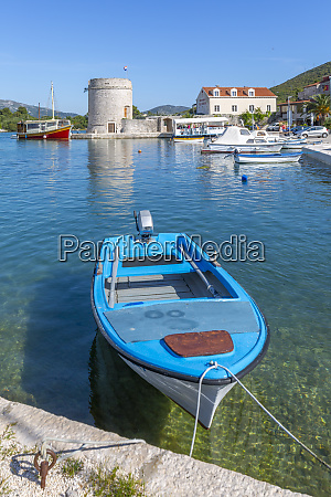 view of small harbour boats and