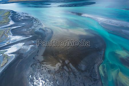 amazing nature aerial view of glacier
