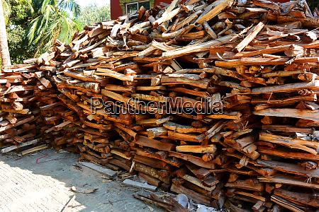 woodpile of rare mahogany firewood i