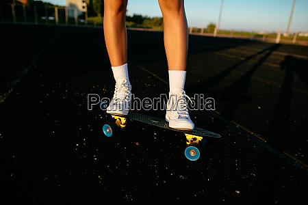 ridding skateboard details