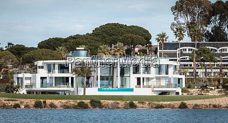 view of a luxury villa around