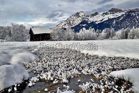 snowy whiteness fabelous landscape
