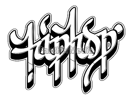 hip hop word in graffiti style