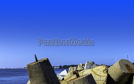 concrete breakwater blocks in hel pomerania