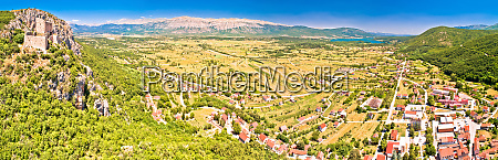 town of vrlika and peruca lake