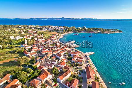 petrcane tourist destination coastline aerial view