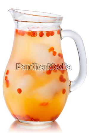 iced sea buckthorn drink jug paths