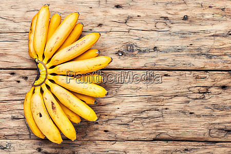 ripe unpeeled bananas