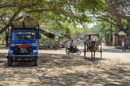various modes of transport on a