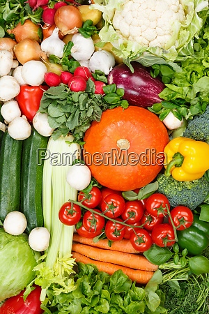 vegetables collection food background portrait format