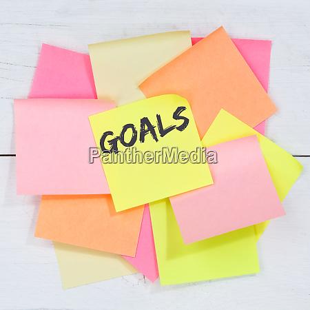 goal goals to success aspirations and