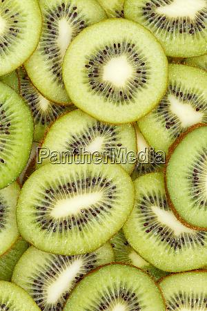 kiwi fruits collection food background portrait