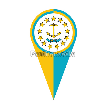 rhode island map pointer location flag