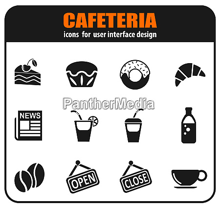 cafeteria icon set