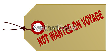 not wanted on voyage marked parcel