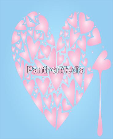 broken pink heart