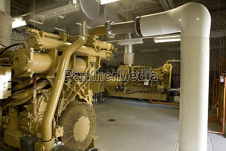 standby generator in water treatment plant