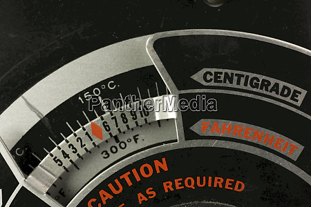 temperature setting dial for laboratory drying