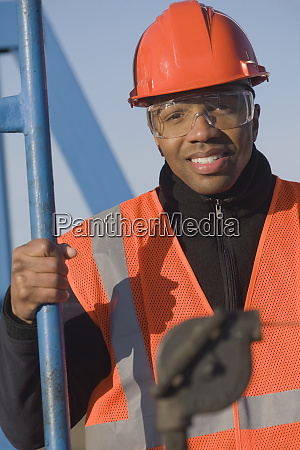 engineer in safety gear at an