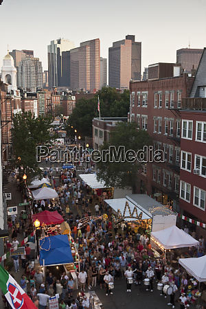 high angle view of people at