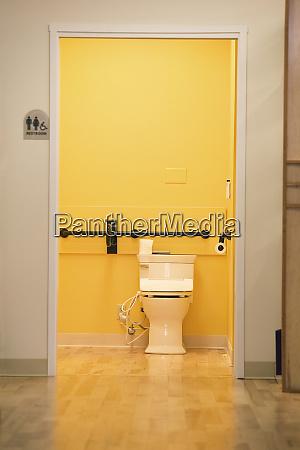 handicapped bathroom through corridor