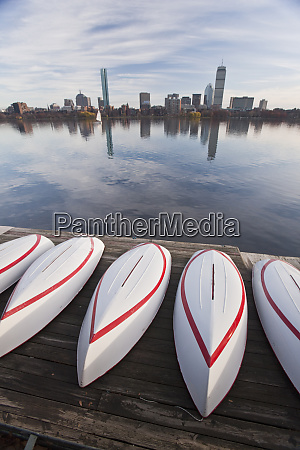 boats at the mit boathouse back