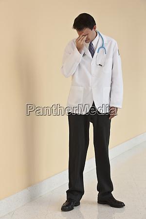 doctor looking depressed