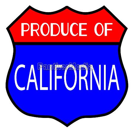 produce of california