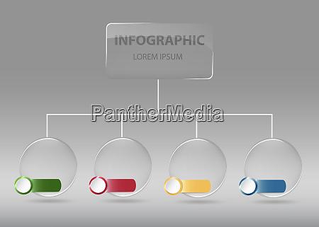 organization chart infographic vector