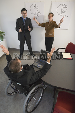business executive in a wheelchair in