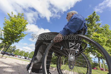 man with muscular dystrophy and diabetes
