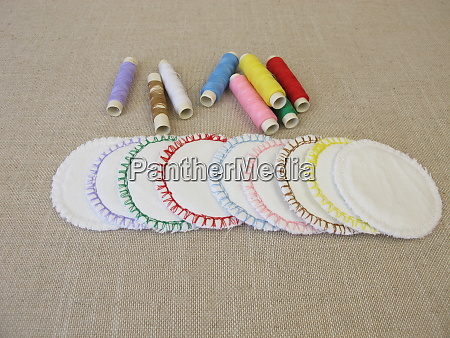 hand sewn colorful reusable washable cotton