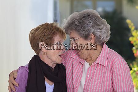 senior friends gossiping